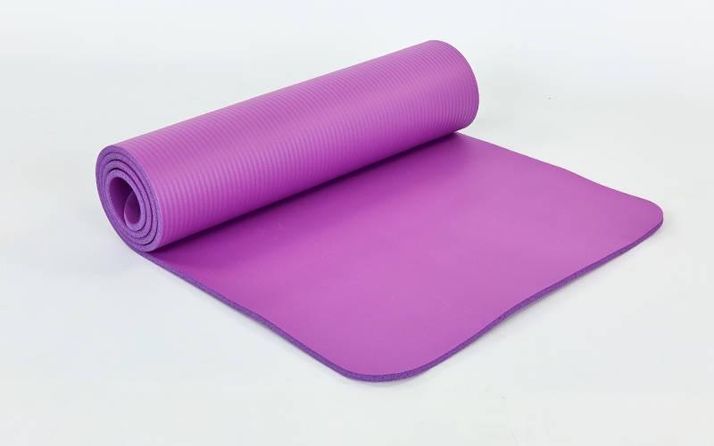 Коврик для йоги и фитнеса NBR 10мм SP-Planeta фиолетовый