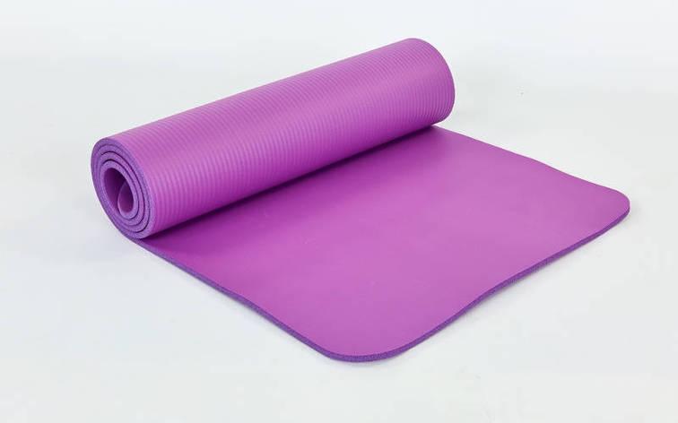 Коврик для йоги и фитнеса NBR 10мм SP-Planeta фиолетовый, фото 2