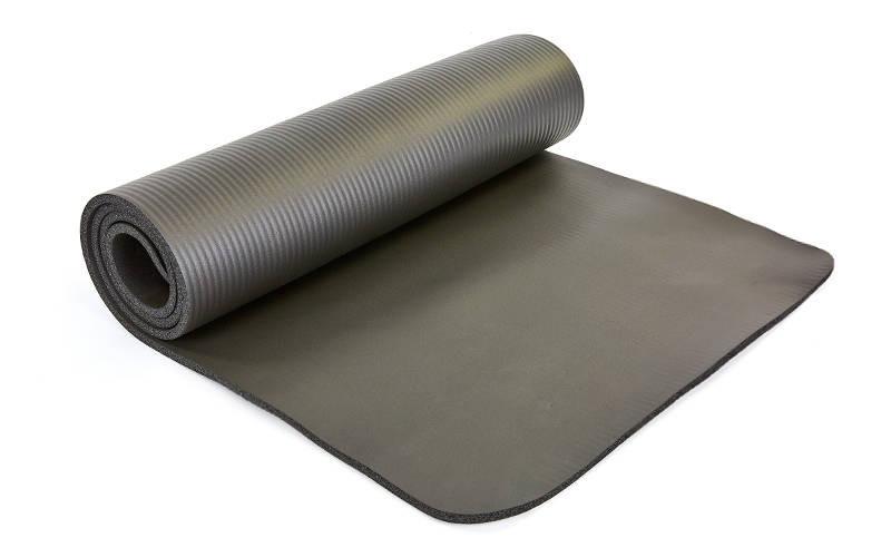 Коврик для йоги и фитнеса NBR 10мм SP-Planeta черный