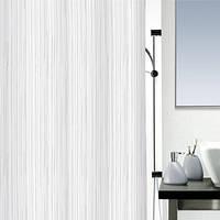Шторка д/ванної RAYA(Швейцария) polyester 180х200 білий_10.14418