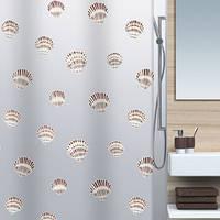 Шторка д/ванної SHELL(Швейцария)  peva  180x200  коричневий_10.15239