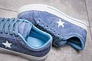 Кеды женские  Converse, голубой (13841) размеры в наличии ► [  37 38 39  ], фото 6