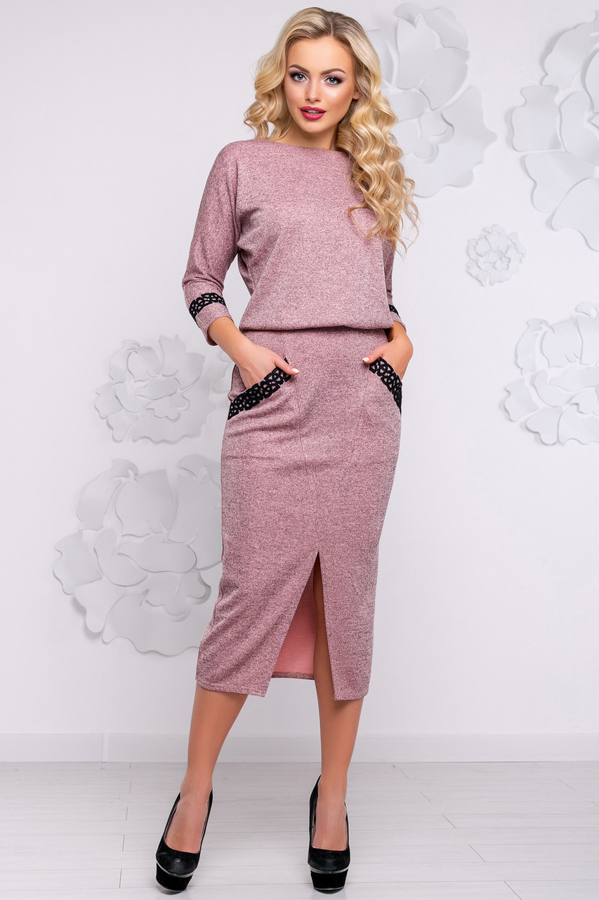 006e337b222 Стильное женское платье (ангора люрекс