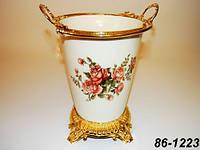 Фарфоровая ваза Lefard Корейская роза 86-1223