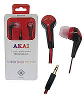 Наушники вакуумные AKAI HD-587B/R