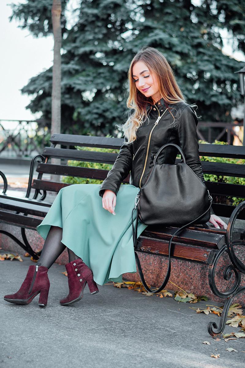 Женская кожаная сумочка 31 черный флотар 01310101