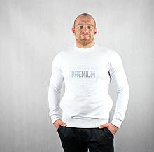 Теплый свитшот белого цвета для мужчин
