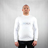 Теплый свитшот белого цвета для мужчин, фото 2
