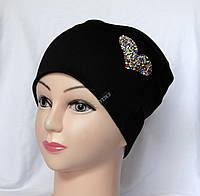 Женская шапка трикотажная, фото 1