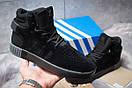 Зимние кроссовки  на мехуAdidas Tubular Invader Strap, черные (30441) размеры в наличии ► [  45 (последняя пара)  ], фото 2