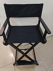 Стул гримерный,режиссерский,раскладной-цвет черный:ZD-2135