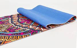 Коврик для йоги и фитнеса Замшевый PVC двухслойный 3мм SP-Planeta FI-6880-5, фото 2