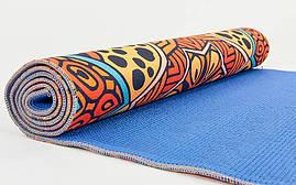 Коврик для йоги и фитнеса Замшевый PVC двухслойный 3мм SP-Planeta FI-6880-5, фото 3