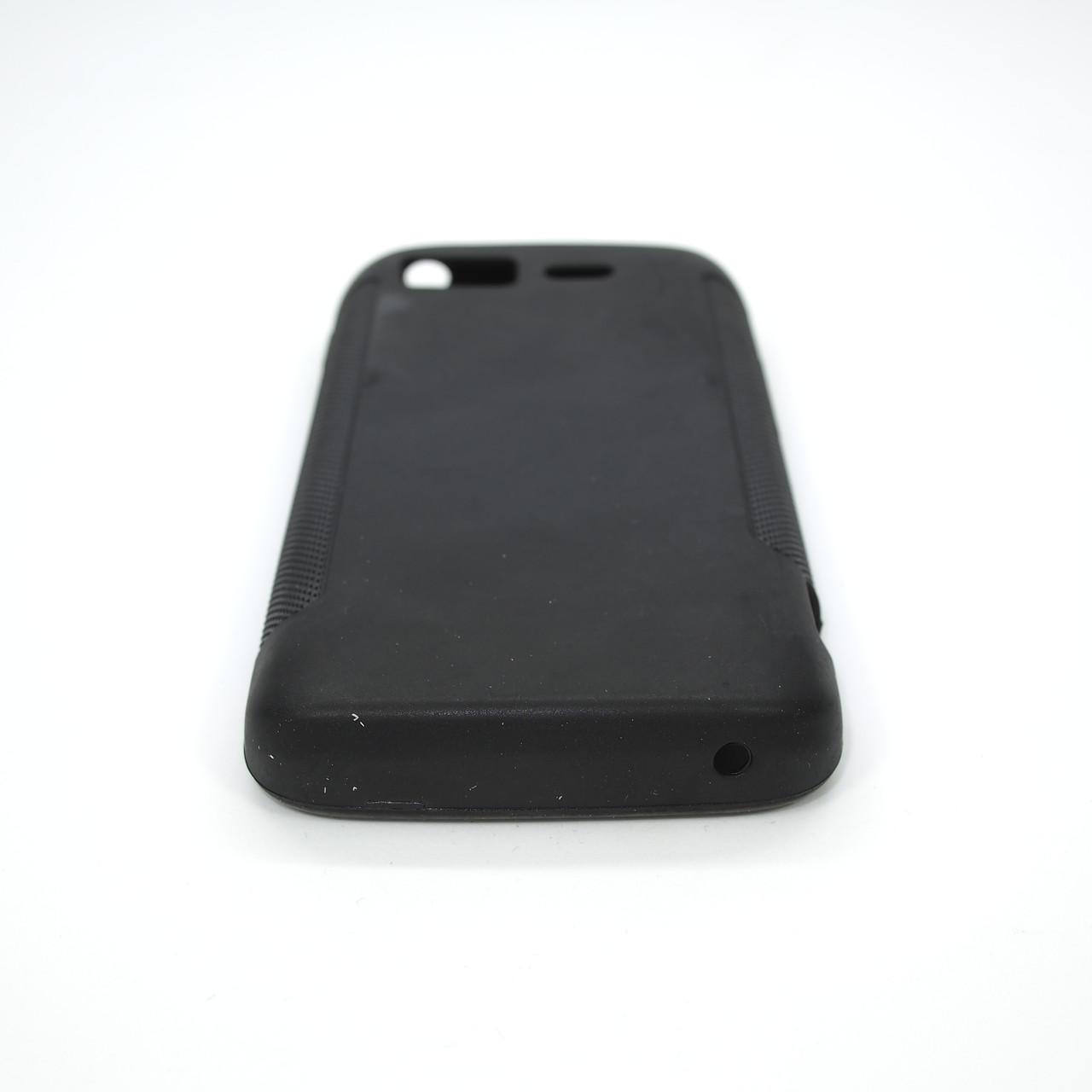 Чехол TPU LG Optimus 2X P990 black transparent Для телефона
