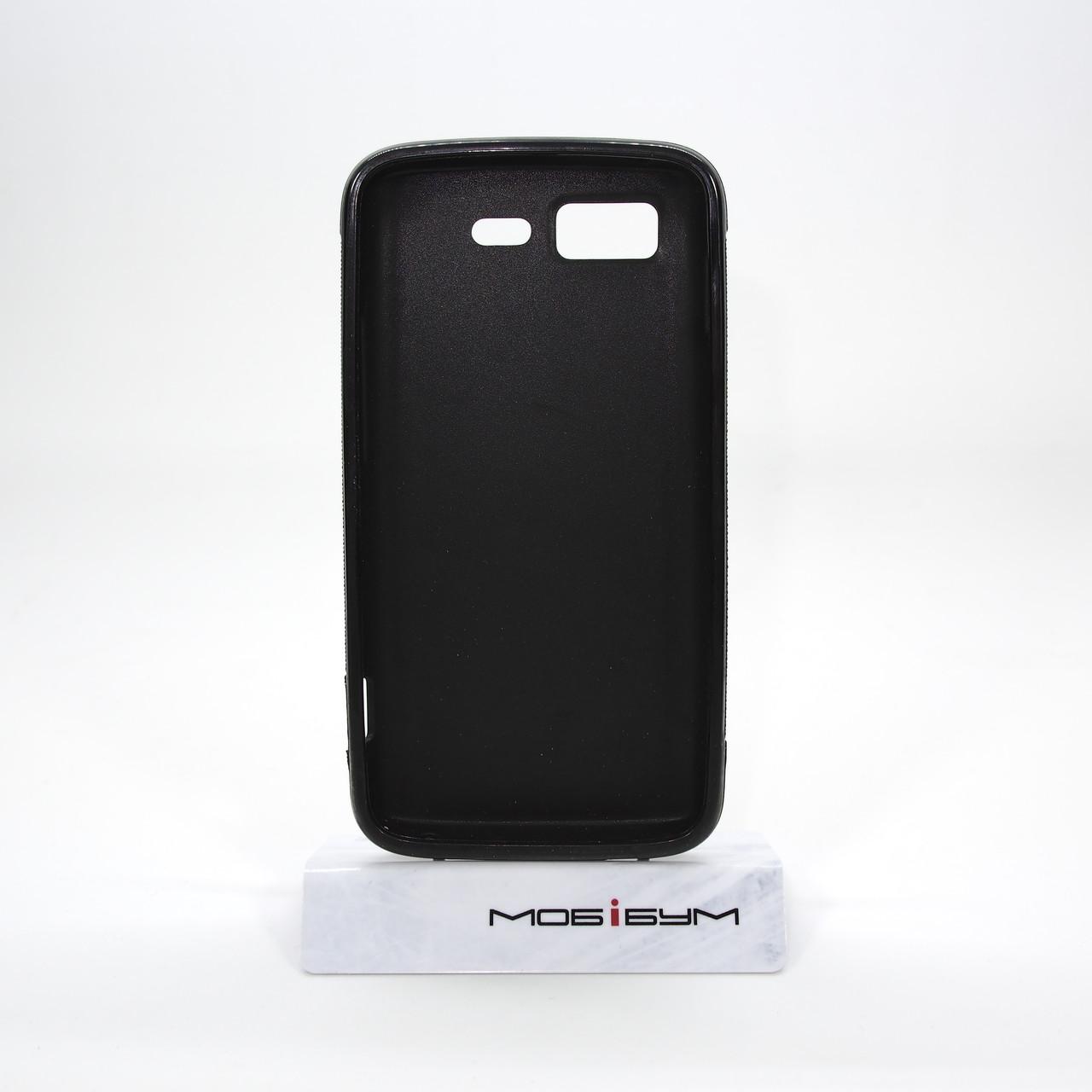 Чехол TPU LG Optimus 2X P990 black transparent