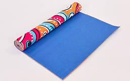 Коврик для йоги и фитнеса Замшевый PVC двухслойный 3мм SP-Planeta FI-6880-6, фото 2