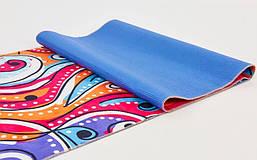 Коврик для йоги и фитнеса Замшевый PVC двухслойный 3мм SP-Planeta FI-6880-6, фото 3