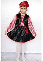 Премиум! Пират Карнавальные Костюмы для девочек, Комплектация 6 Элементов, Размеры 3-6 лет, Украина