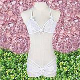 Кружевной комплект белья белый, фото 3