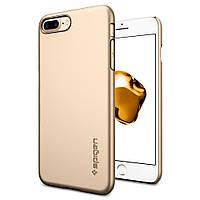 Чехол Spigen для iPhone 8 Plus / 7 Plus Thin Fit, Champagne Gold, фото 1