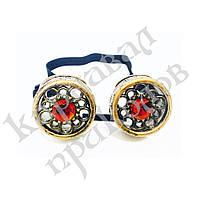 Очки Стимпанк с кристаллами (бронза), фото 1