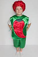 Премиум! Перец Карнавальный Костюм Детский, Комплектация 3 Элемента, Размеры 3-6 лет, Украина