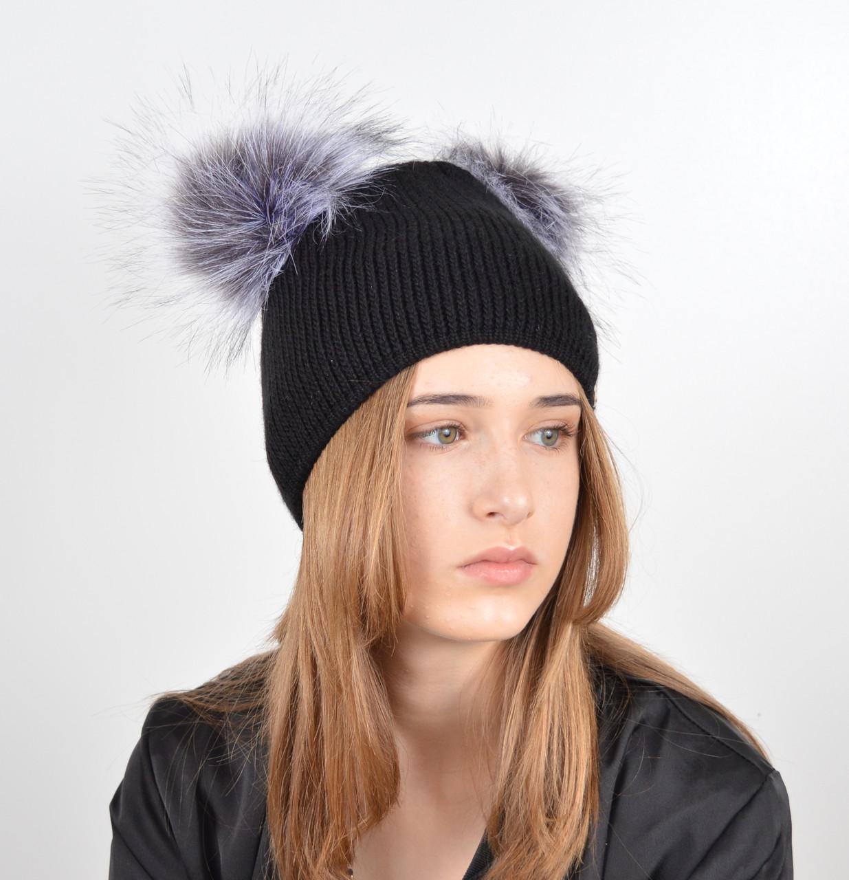 шапки с помпоном