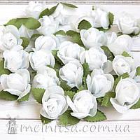 Головка розы, белая 2 см