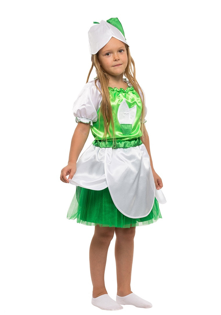 Детский карнавальный маскарадный костюм Подснежник девочка размер:104-134 см