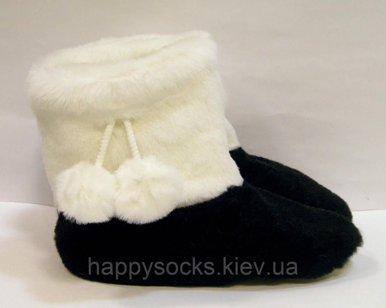 Тапочки-хутряні чобітки з кролика жіночі для будинку
