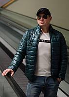 Мужская осенняя стильная стеганная куртка на синтепоне. Арт-4217/44