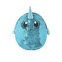 Мягкая игрушка с пайетками ЗАГАДОЧНЫЙ НАРВАЛ Shimmeez SMZ01025