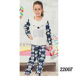 """Недорогая пижама детская для девочки 12 лет """"Soft"""" Lily Kids Турция 22007milk"""
