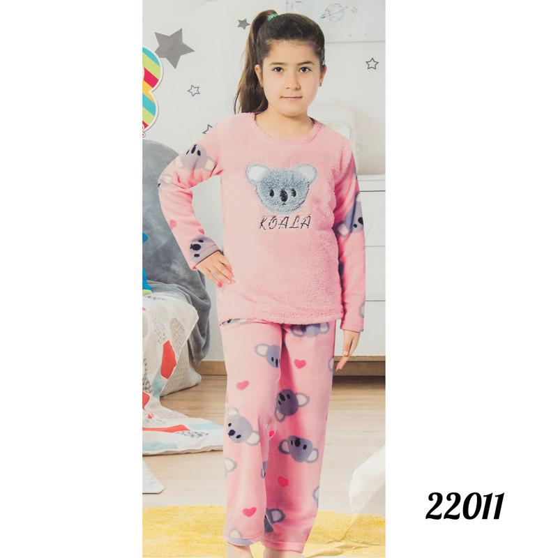 """Мягкая пижама детская девочке 8 лет """"Коала"""" Lily Kids Турция 22011gray"""