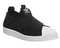 Кроссовки Adidas Superstar Slip On black женские мужские