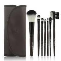 Набор кистей для макияжа в стиле Make up for you в темно-коричневом чехле