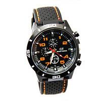 Мужские наручные часы GT Grand Touring спортивные (F1 Speed Racer Men Sport) оранжевые