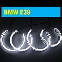 Ангельские глазки crystal (4*131 мм) LED для BMW E39 белый, фото 2