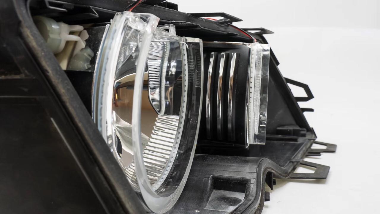 Ангельские глазки crystal (4*131 мм) LED для BMW E46 с линзами, белый