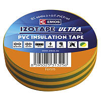 Изолента EMOS TAPE PVC 15/10 GREEN/YELLOW