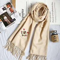 Шикарный бежевый шарф в стиле Gucci