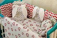 Детское постельное польская бязь защита на кроватку игрушки - подушки, гипоаллергенный материал цвет на выбор