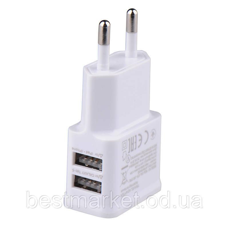 СЗУ адаптер 220V на 2 USB N7100