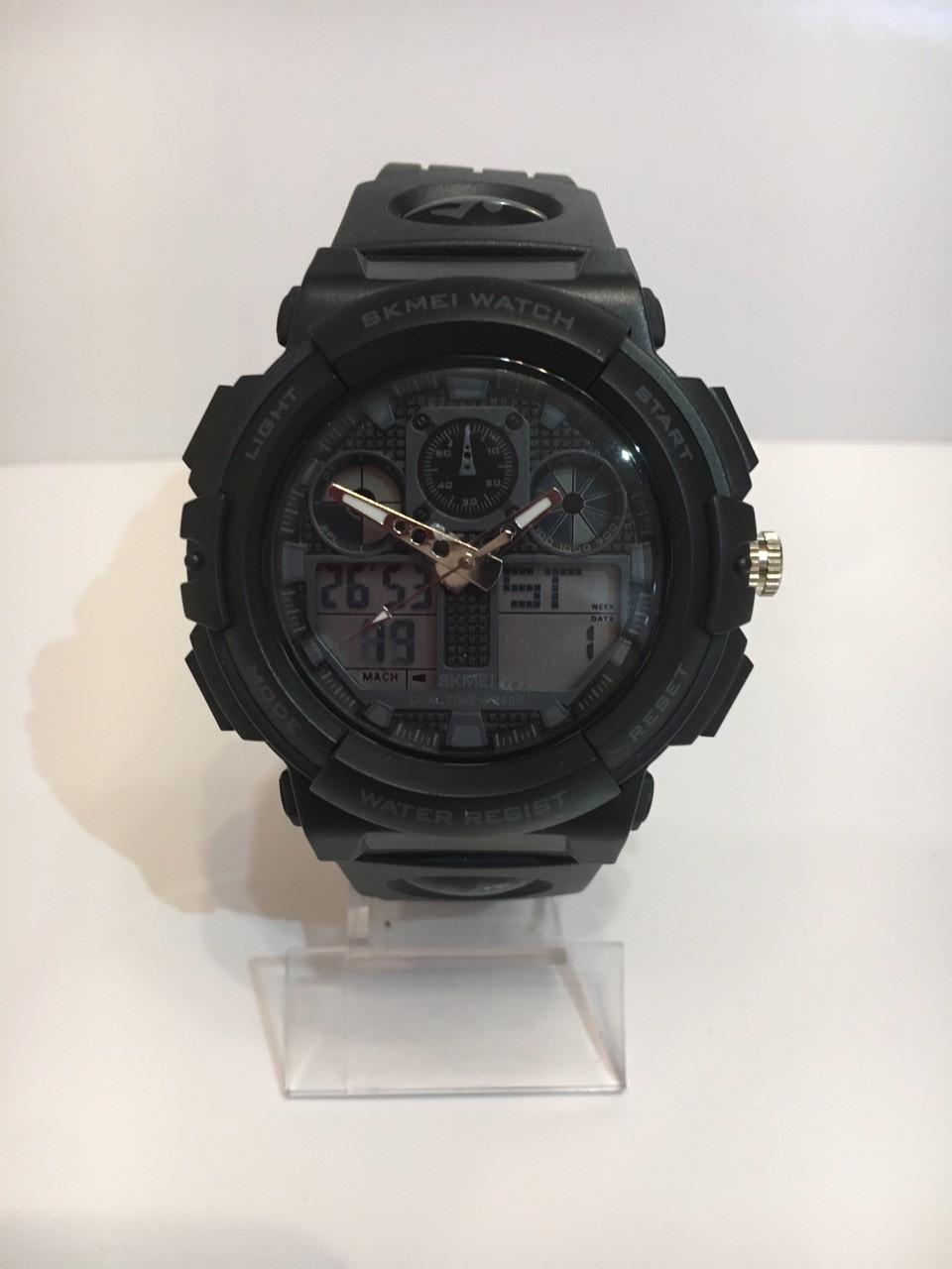 Мужские спортивные водостойкие часы SKMEI (Скмей), черный ( код: IBW165B )