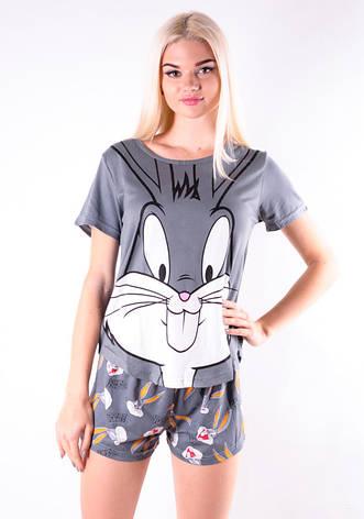 Молодежная пижама бакс- бани темно серый, фото 2