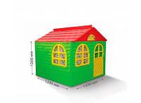 """Игровой домик для детей от 1 года, зеленый с красной крышей """"Фламинго"""""""