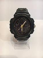 Мужские спортивные водостойкие часы SKMEI (Скмей), черный с желтым, фото 1