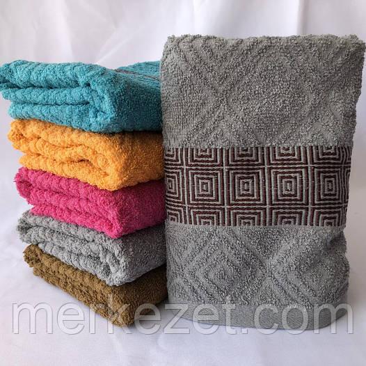 """Метровые махровые полотенца. """"Квадраты"""". Полотенце для рук и ног"""
