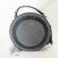 Круглая женская сумочка DAVID DJONES темно-зеленого цвета DDT-020801, фото 1
