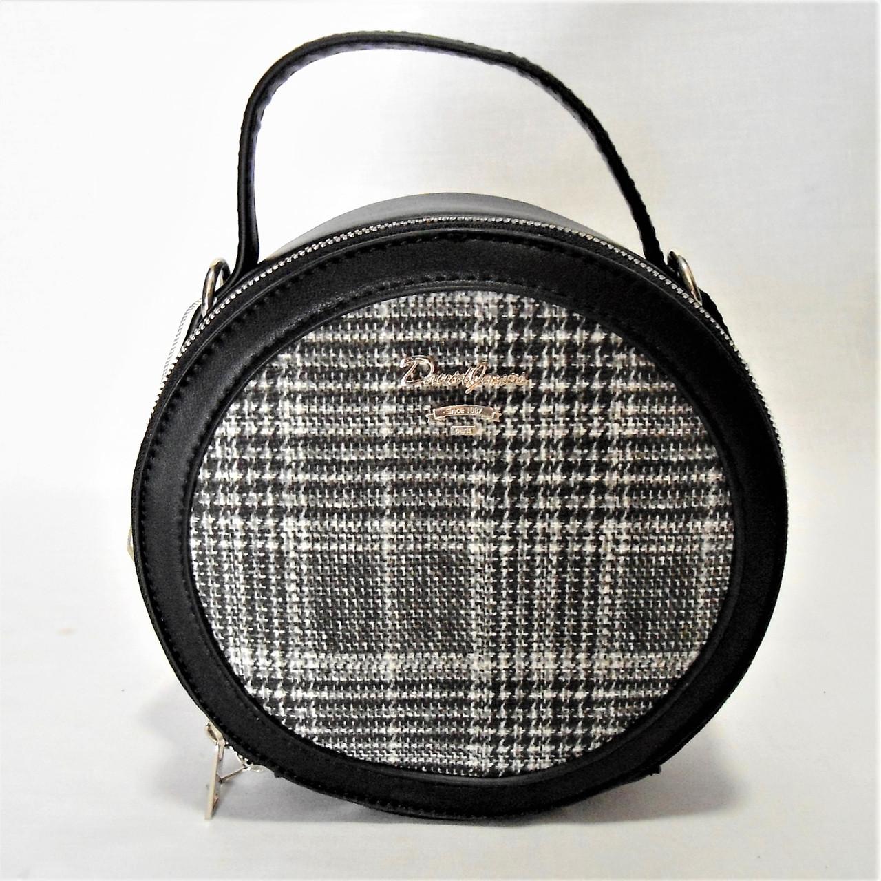 Круглая женская сумочка DAVID DJONES черного цвета DDT-020807, фото 1